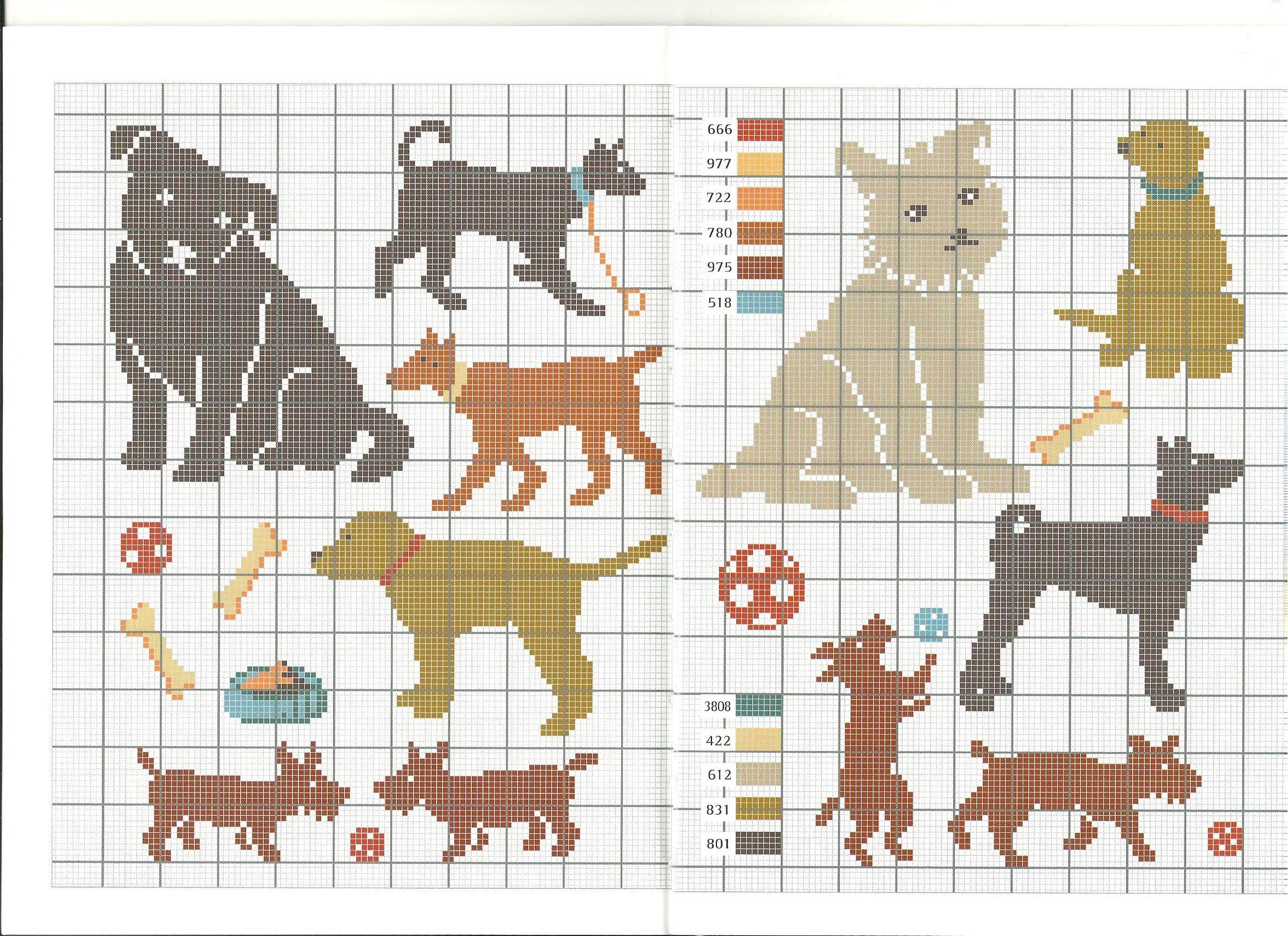 chien * point de croix * cross stitch dog | Embroidery patterns/Borduurpatronen | Pinterest ...