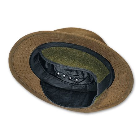Tin Cloth Insulated Packer Hat ( 75) Original Tin Cloth Fedora Style Hat  with Wool Ear Flaps (Filson.com) TAN ONLY e82df4d8a