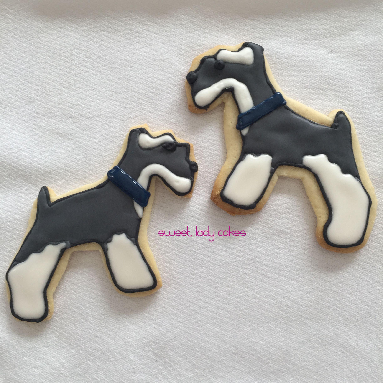 Schnauzer Sugar Cookies Monster Cookies Dog Cookies Iced Cookies
