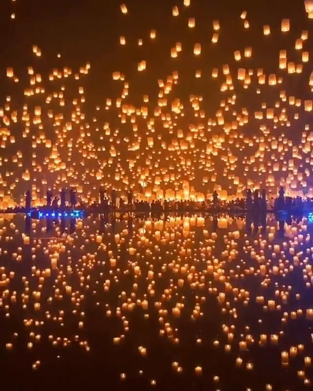 Gorgeous View of Lanterns in Thailand