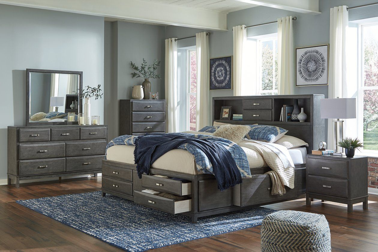 Caitbrook Queen Storage Bed with 11 Drawers in 11  King bedroom