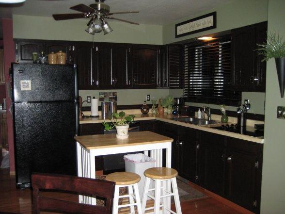 stylish black brown kitchen cabinets black brown kitchen from Dark ...