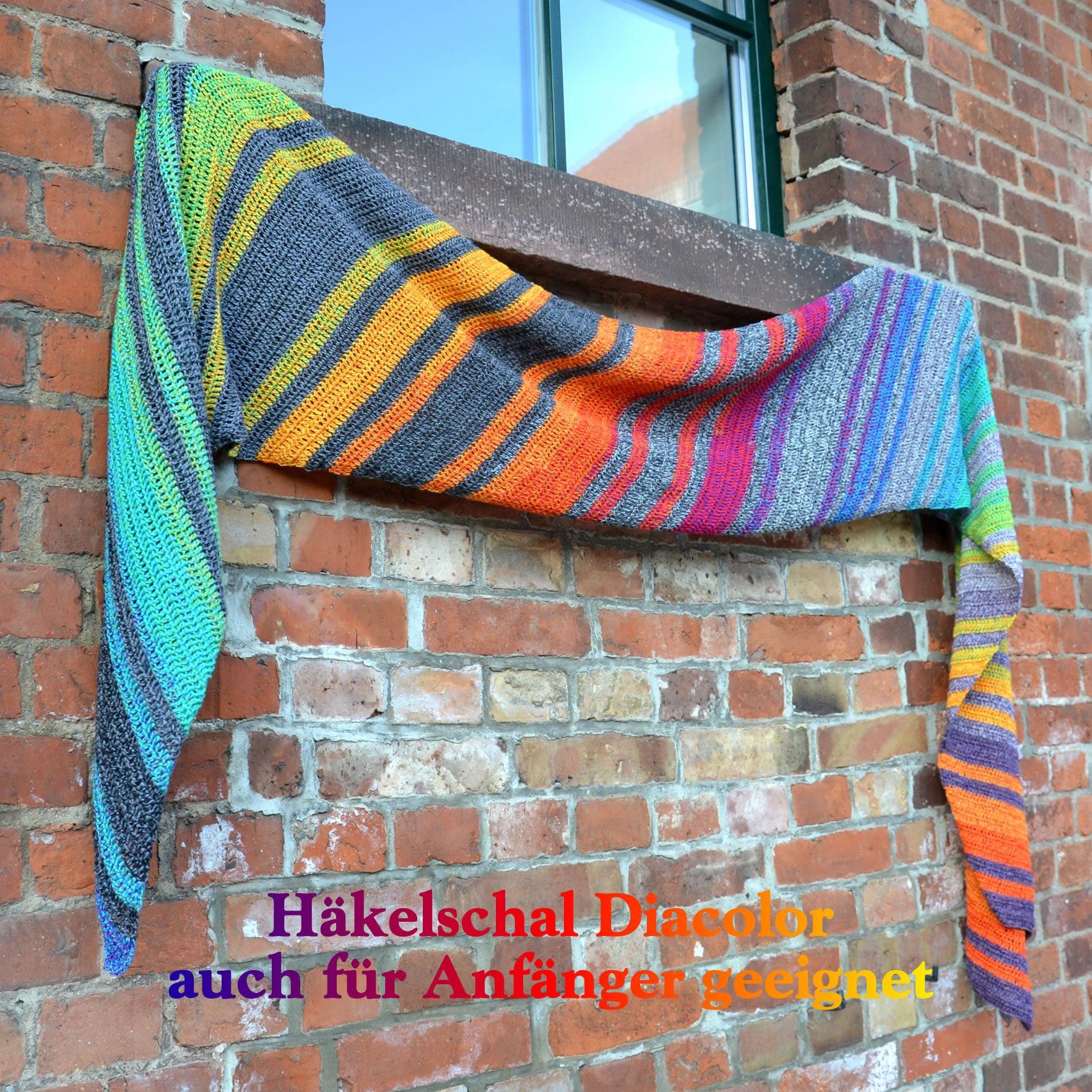 Häkel- & StrickSet inkl. PDF Anleitung LoLa 4fach Bobbel Maxi-Schal Diacolor #hatflower