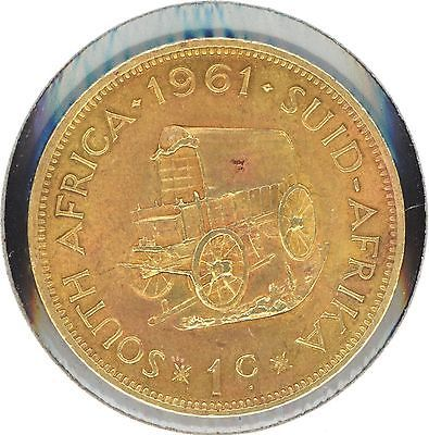 South Africa Rare Coins 1 40 One 41 Cent 1961 Brass Unity Is