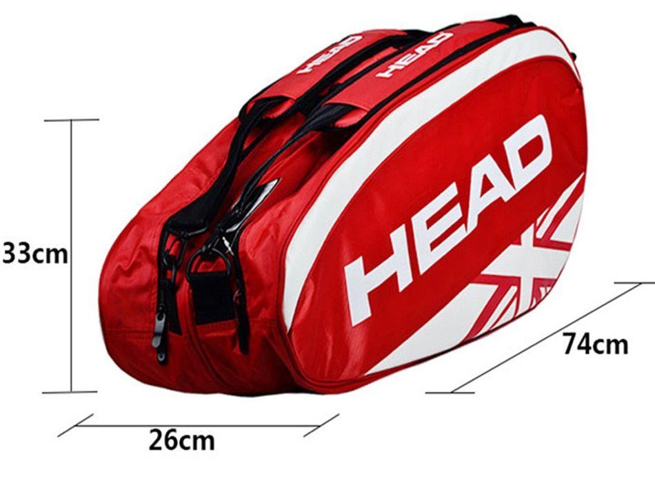 Tennis Racket Bag Head Purse Double Shoulder Backpack Raquete De Tenis For 3 6 Rackets Badminton Squash Mal Tennis Racket Bag Shoulder Backpack Head Tennis Bag