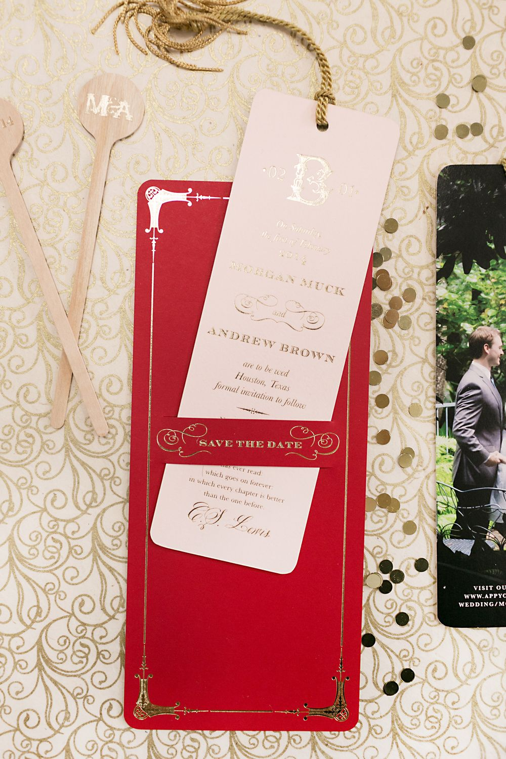 10. MuckM, Morgan + Andrew save the date, designed by Amy Boyter of ...