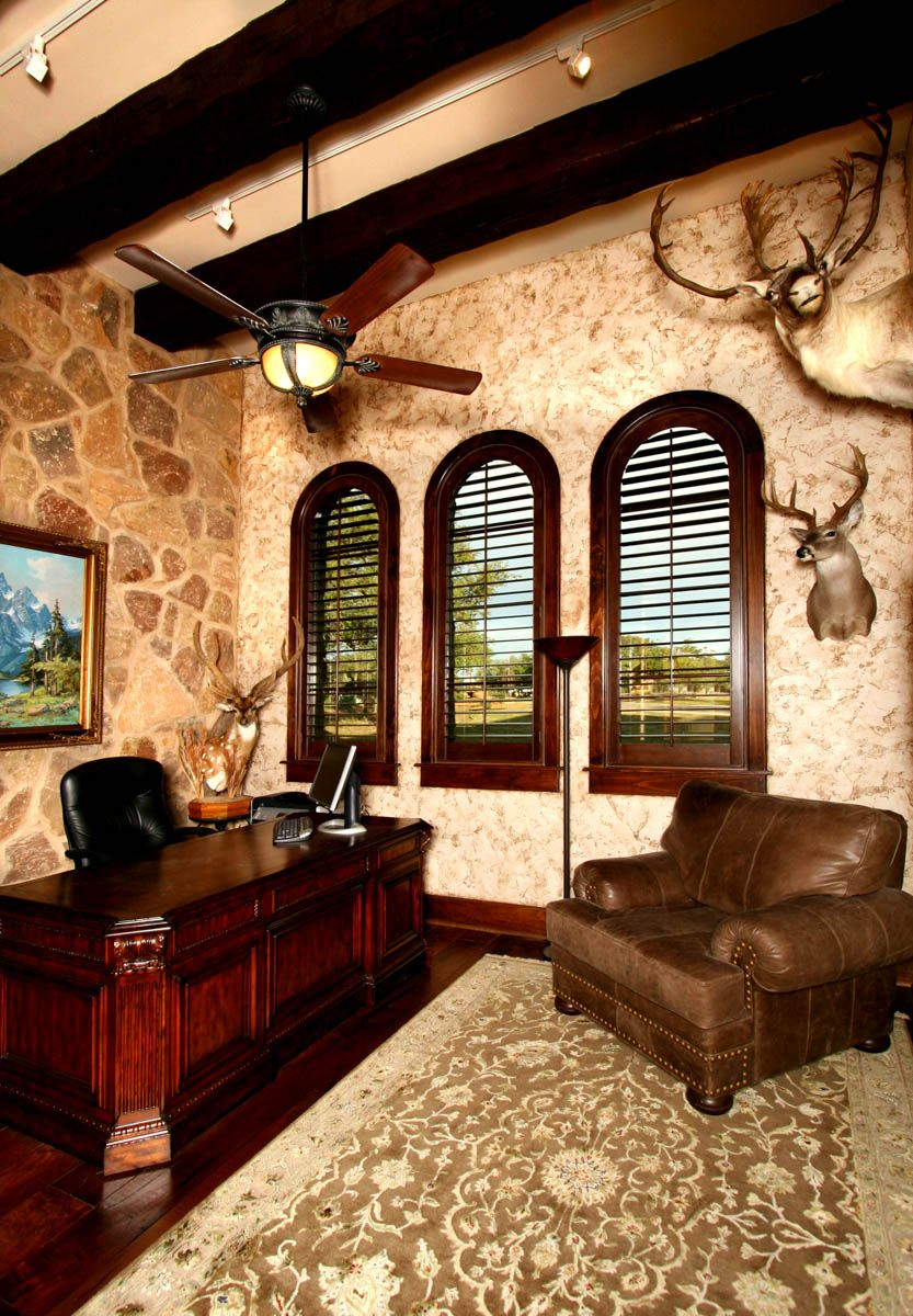 Belvedere in Lake Travis Home Office by Zbranek & Holt Custom Homes ...