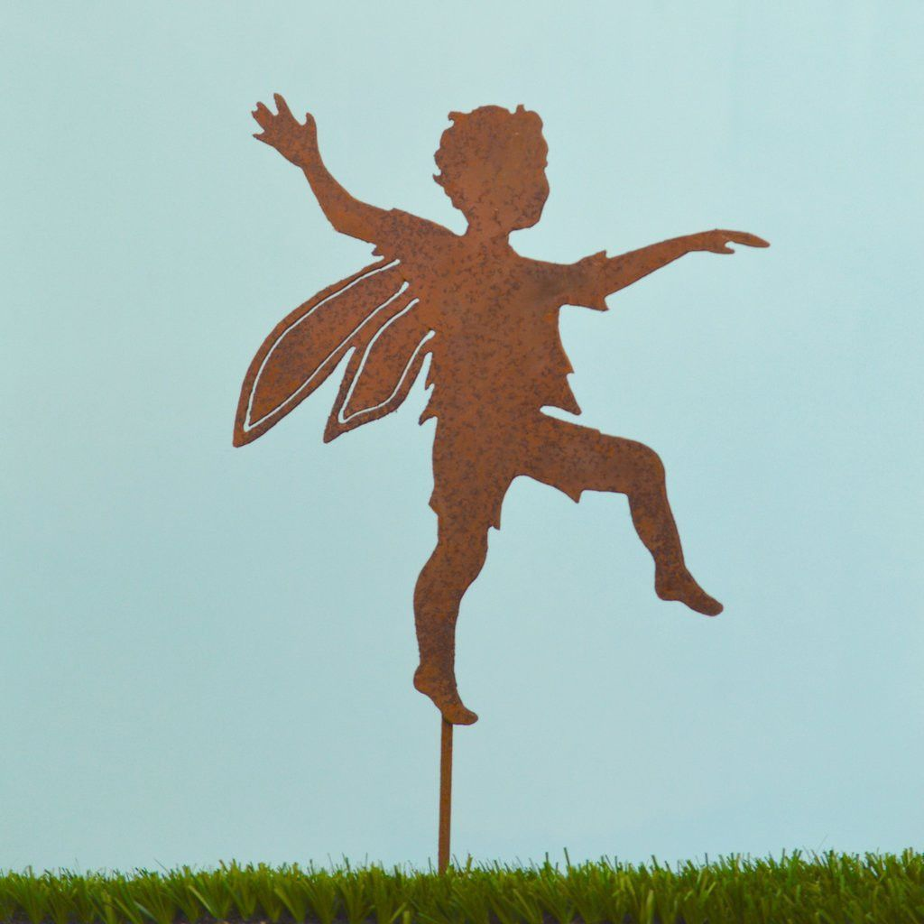 Skipping Boy Fairy Stake