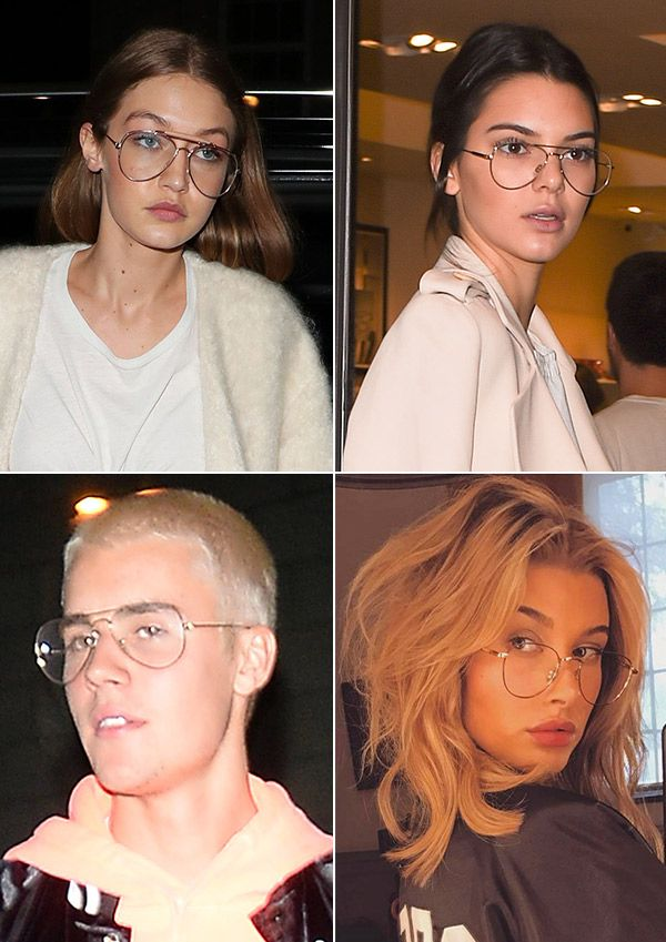how to wear wire frame glasses like kendall jenner gigi hadid justin bieber - Wire Frame Glasses