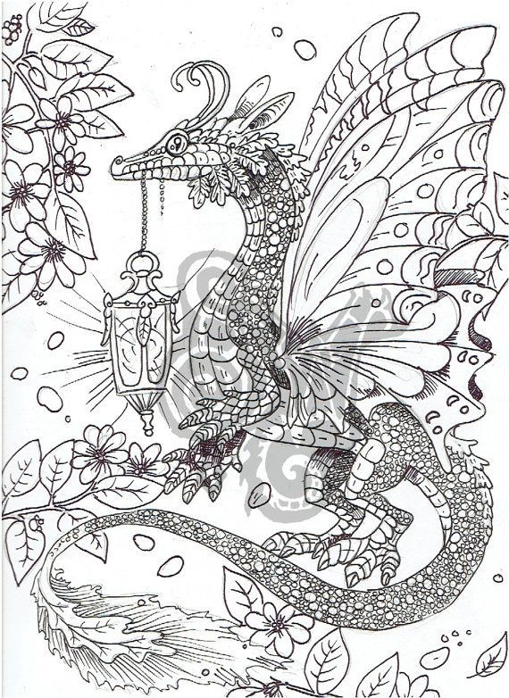 Image Result For Adult Coloring Pages Dragons