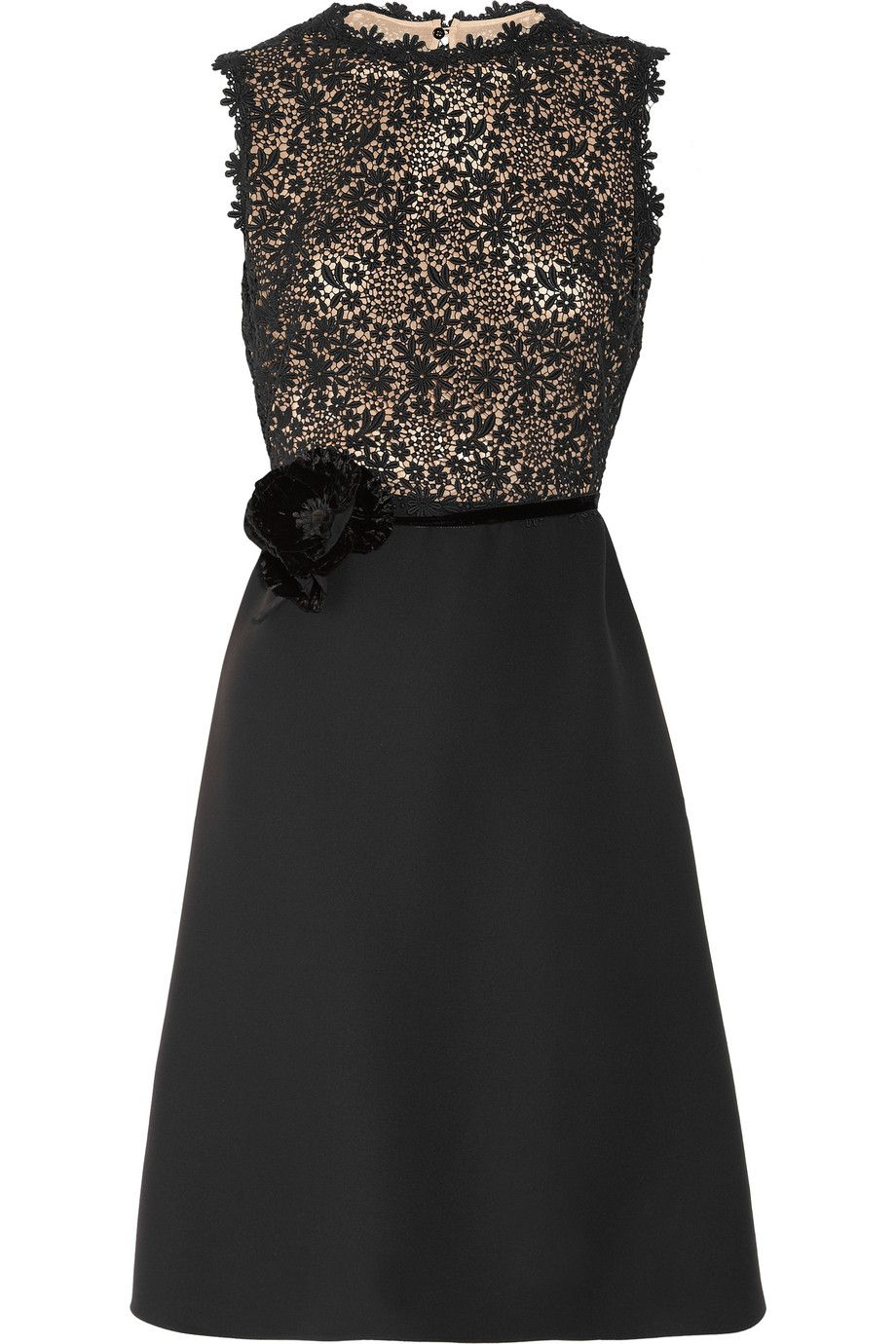 VALENTINO  Silk-crepe and lace dress  $2,890