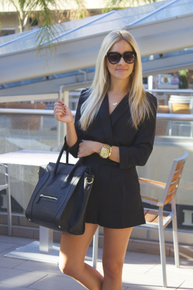 The Shopping Bag's Notched Collar Tuxedo Romper & Stella Scalloped Hoop Earrings were featured on @ashbegash ! We love how Ashley styles the romper and accessories for an easy chic look. Shop Ashley's look at www.ShopTheShoppingBag.com Exclusive for Polka Dots and Sailor Stripes readers, use code DOTSANDSTRIPES for 25% off your order!