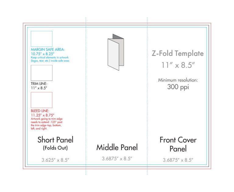 8 5 X 11 Z Fold Brochure Template U S Press Intended For 8 5 X11 Brochure Template Brochure Template Brochure Folds Travel Brochure Template