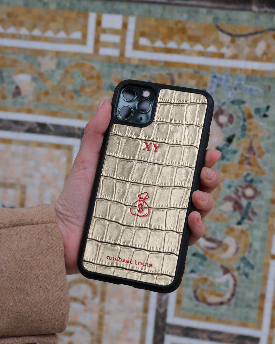Gold croc iphone 11 pro max case in 2020 iphone 11