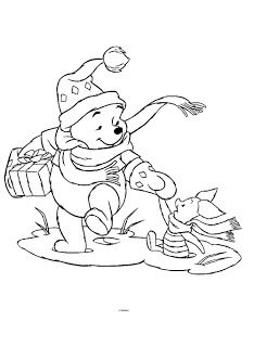 Free Coloring Pages Winnie The Pooh Christmas Coloring Pages Disney Coloring Pages Christmas Coloring Books Cartoon Coloring Pages