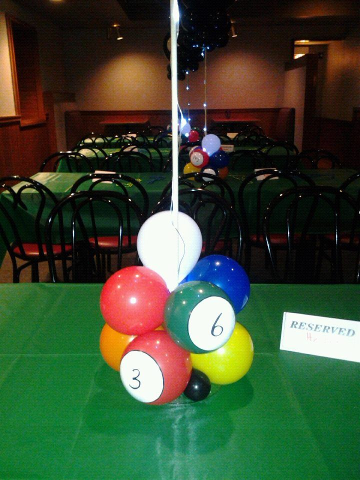 Rosielloons Balloon Centerpieces Pinterest Party Birthday And Interesting Pool Ball Decorations