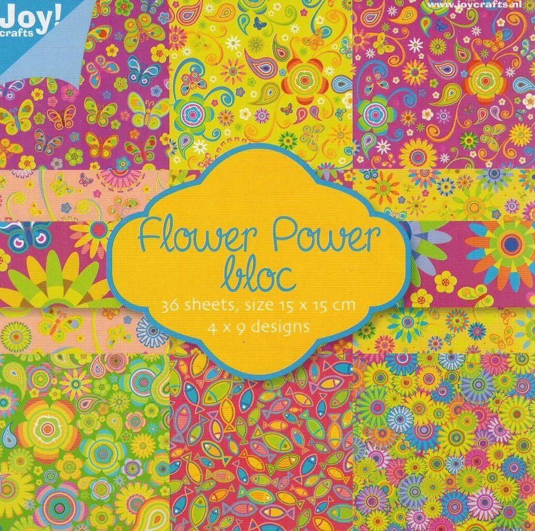 *Flower Power Paper bloc*Motivpapier*160gr*Kartengestaltung*Scrapbooking*Papier*