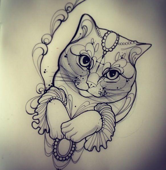 Miss Juliet Cat Face Tattoos Cat Tattoo Cat Tattoo Designs