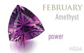 February.  Amethyst birthstone.
