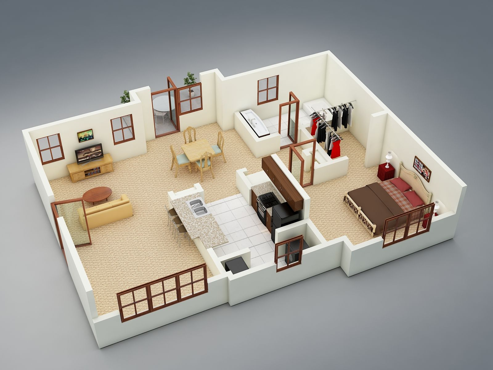 The Holly One Bedroom One Bath 975 Square Feet Attached Garage Renting A House Apartments For Rent One Bedroom