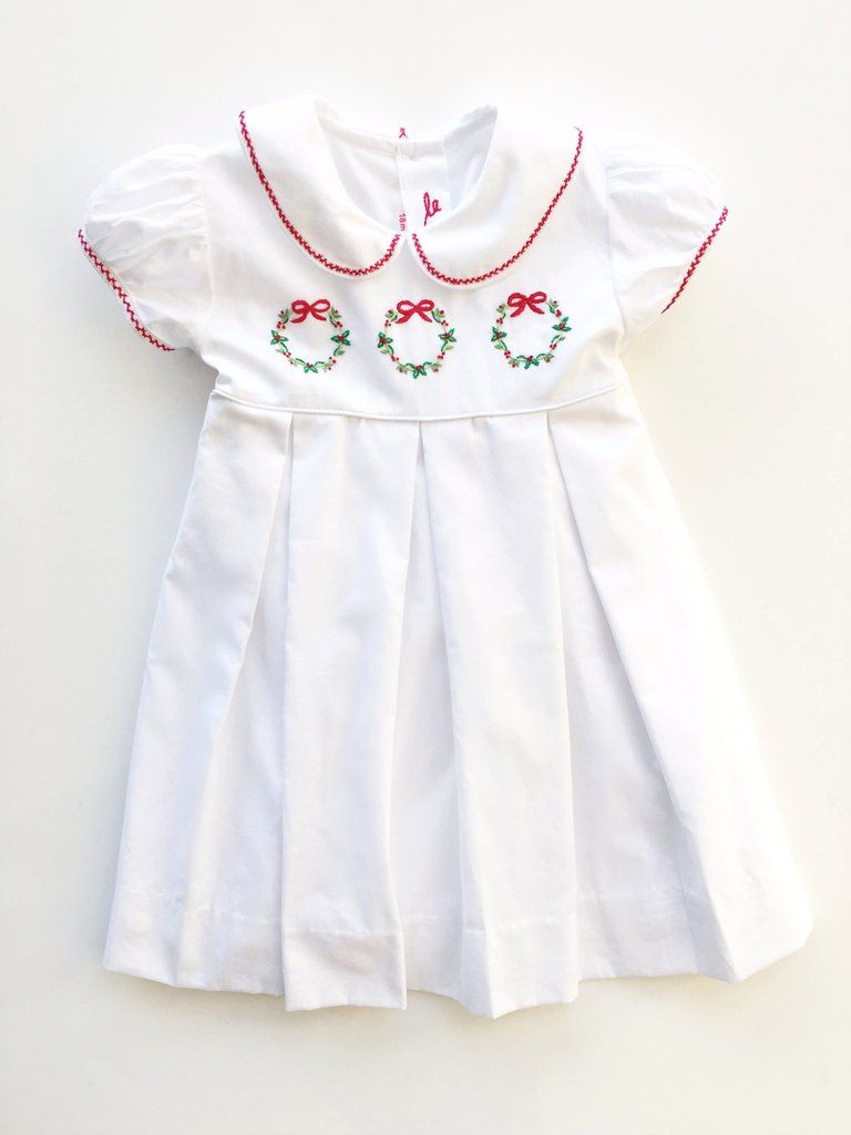 Exquisite Shadow Embroidery Wreaths Bring This Otherwise Simple Dress To Life Indulge In This Beautiful Handwo Classic Kids Clothes Girl Outfits Toddler Dress