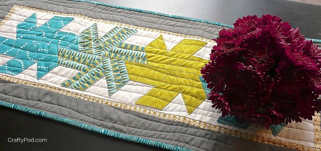Half Hexie Star Table Runner From Craftypod Quilted