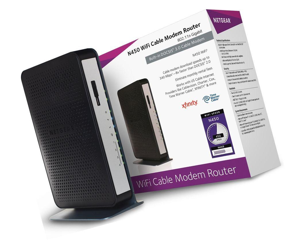 Netgear N900 4 Port Cable Modem | Lesjoyauxduciel