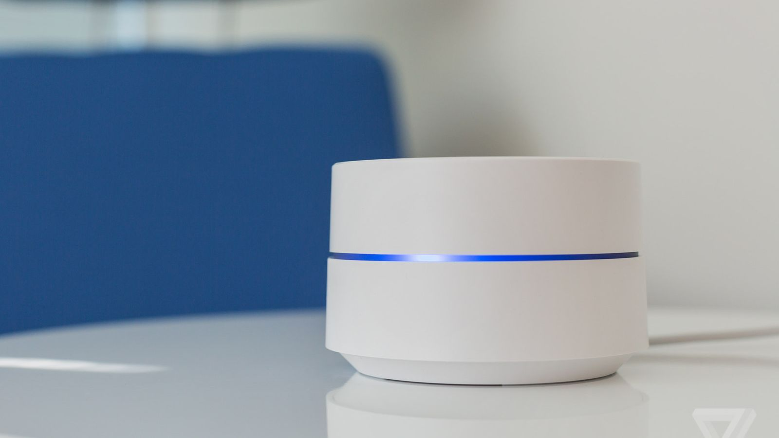 The Google Wifi routers are little white pucks you can scatter ...