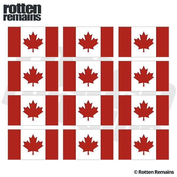 Canada Flag Decal 12 2 X1 2 Canadian Vinyl Hard Hat Helmet Sticker Flag Decal Helmet Stickers Vinyl Sticker
