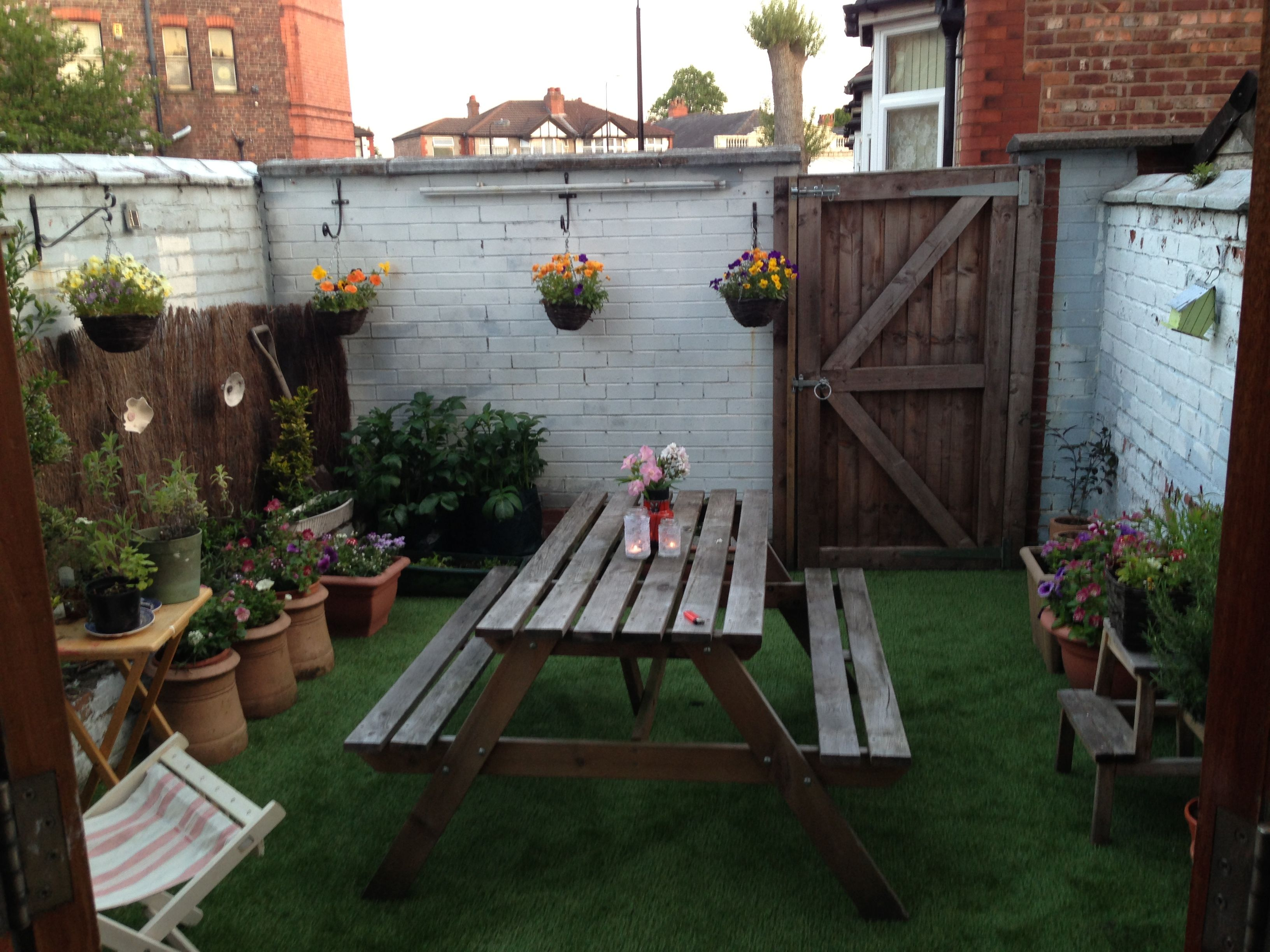 Charmant Garden Complete With AstroTurf! Small Courtyard Gardens, Courtyard Ideas,  Small Courtyards, Patio