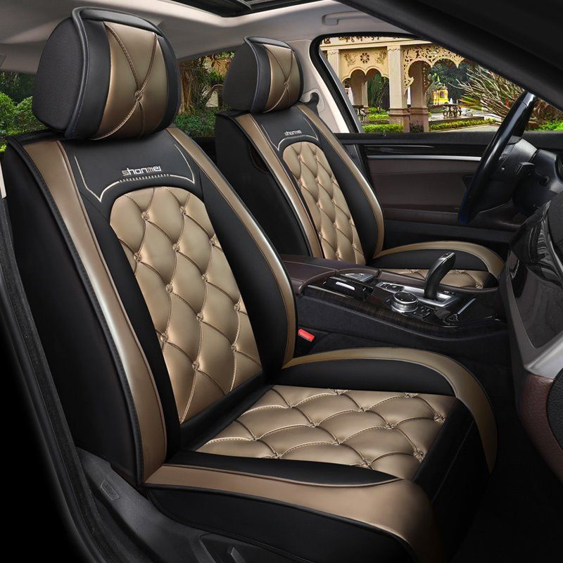 Car Seat Covers Full Coverage Soft Wear Resistant Durable Skin Friendly Man Made Pu Leather Airbag Compatible 5 Seater Univ In 2021 Car Seats Carseat Cover Seat Covers