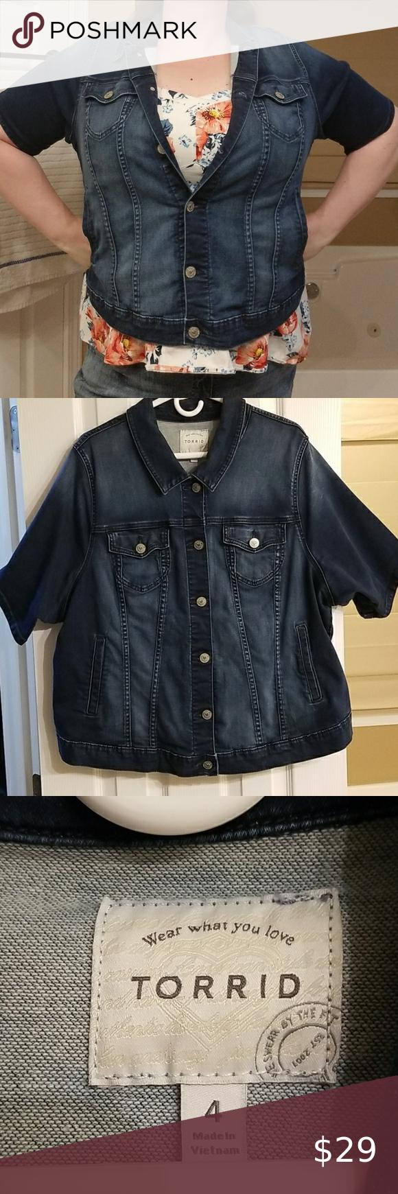 Torrid Jean Jacket Jackets Jean Jacket Clothes Design [ 1740 x 580 Pixel ]