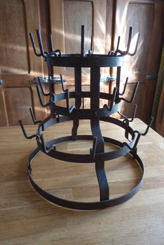 Vintage Anformer Bottle Iron Winemaker Ancient Rack Object Of OZiTPXku