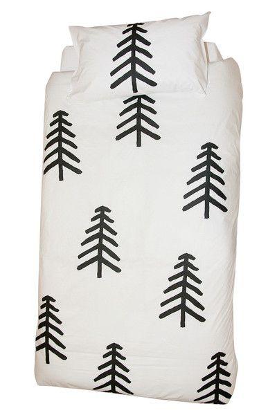 cute tree duvet print