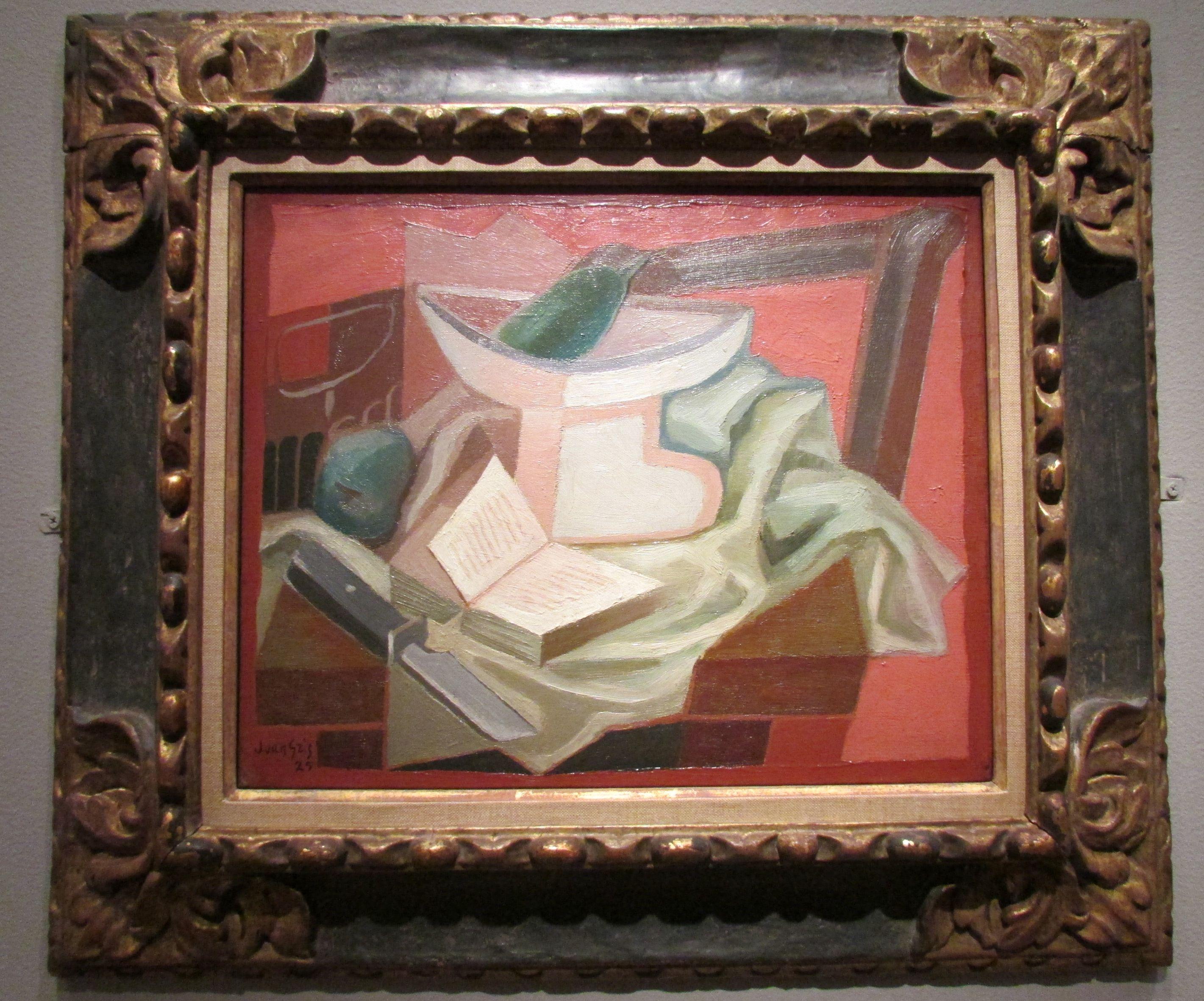 Juan Gris: Still Life with Book, 1925.