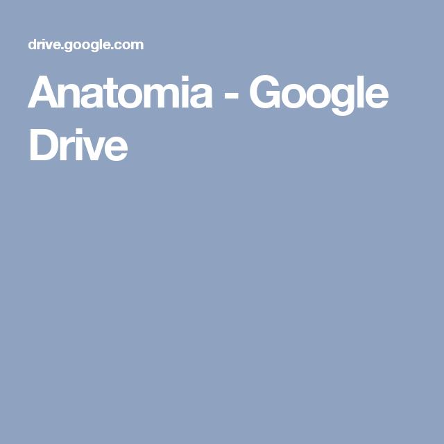 Anatomia - Google Drive