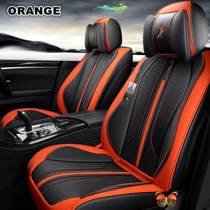 Sport Luxury Leather Car Seat Covers Auto Seat Cover Full Set Universal Fit For Suv Subaru Ford Honda Toyot Leather Car Seat Covers Car Seats Leather Car Seats