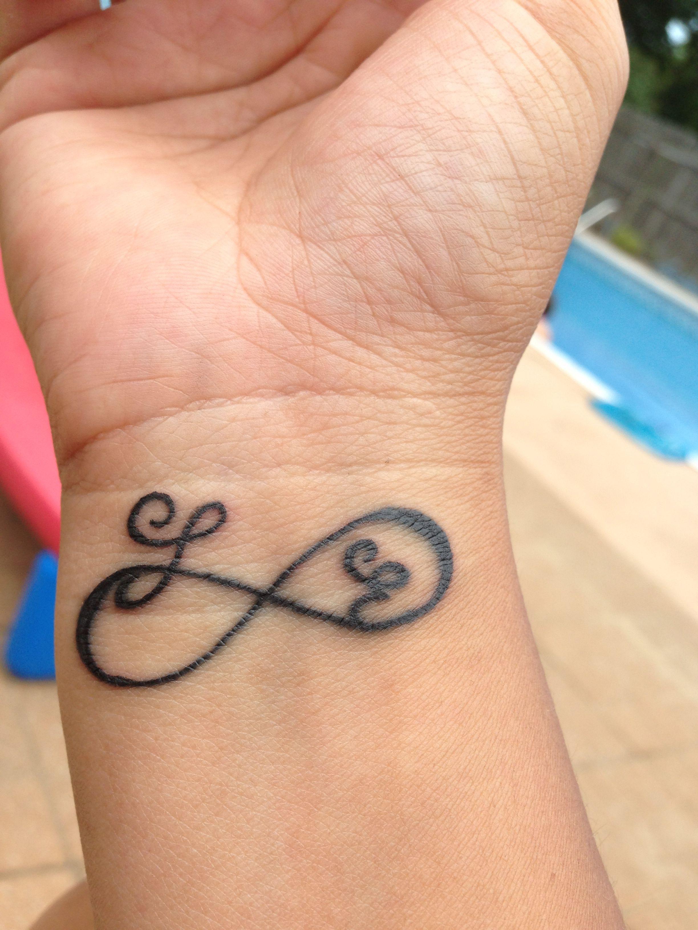 Infinity Tattoo With My Kids Initials Tattoos Tattoos Infinity