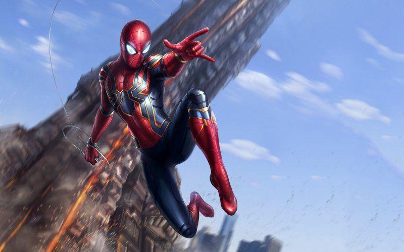 Wallpaper Spider Man Avengers Infinity War Movie Fan Art Iron Spider Avengers Marvel Avengers Bedroom