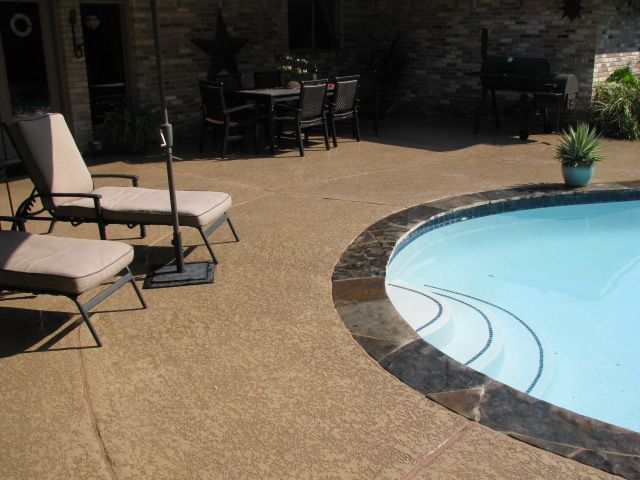 24 Painted Pool Deck Ideas Painted Pool Deck Pool Deck Concrete Pool