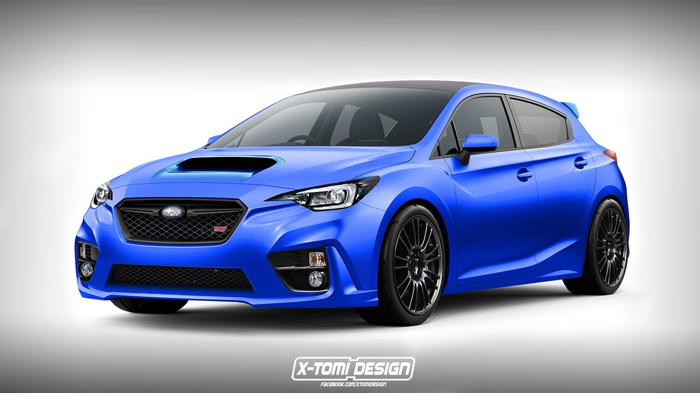 Subaru Crosstrek With Turbo >> 2018 Subaru Impreza WRX STI Rendered as a Hatchback | Cars | Pinterest | Subaru, Subaru impreza ...