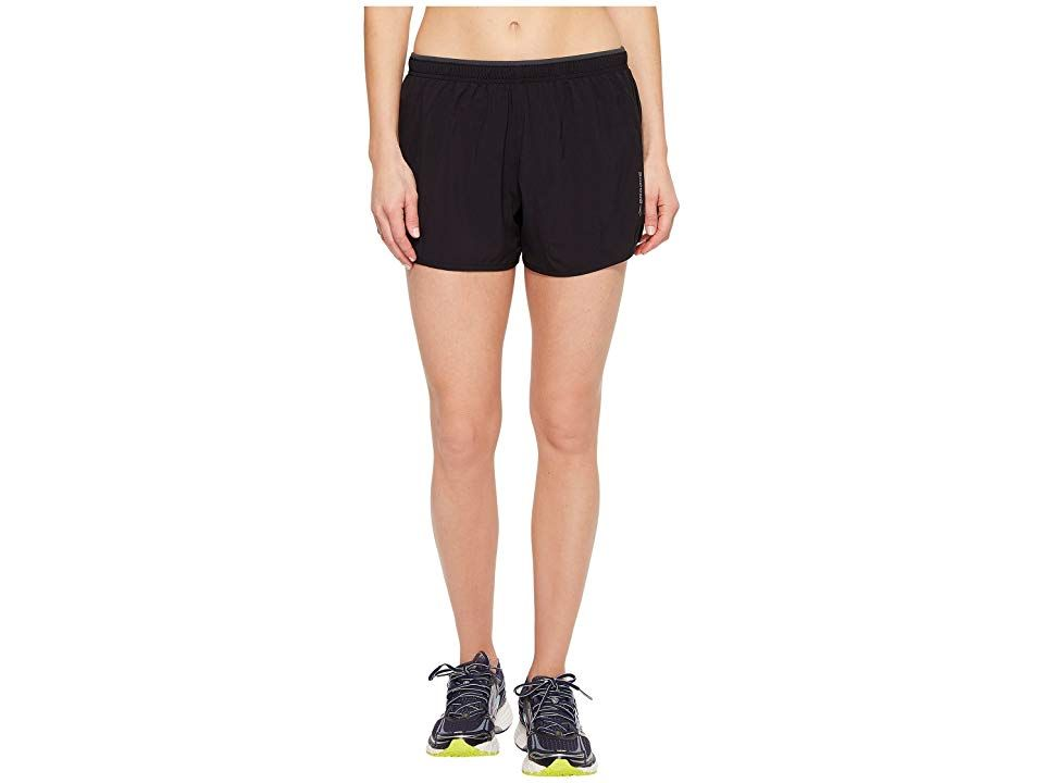 Brooks GoTo 3 Shorts Black Womens Shorts Running never felt so easy when donning the GoTo Shorts DriLayer fabric offers moistureswicking capabilities that keep you cool a...
