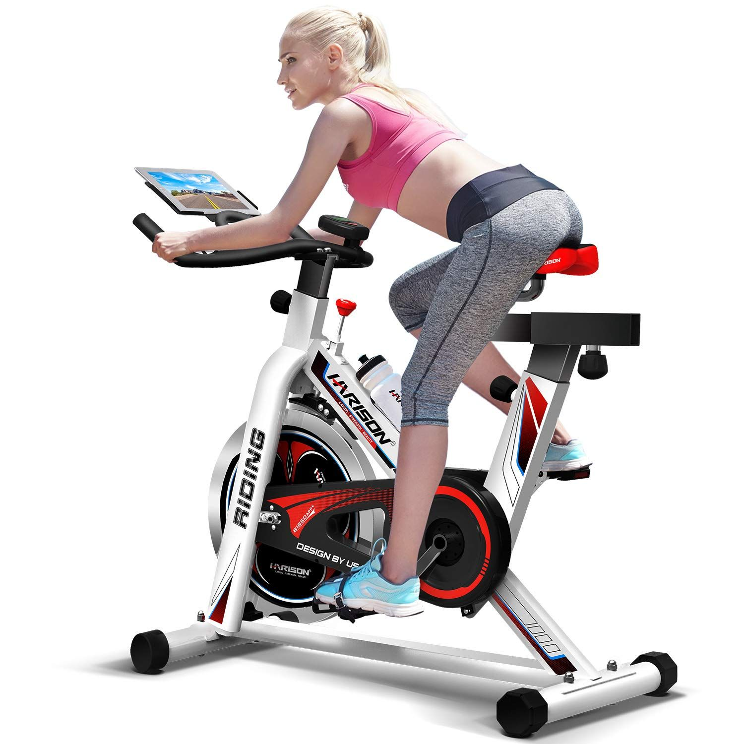 Indoor Cycling Bike Belt Drive Stationary Exercise Spin Bike For Home Use Spin Bike Workouts Indoor Cycling Bike Biking Workout