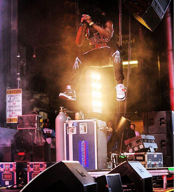nike air max hyper dunk 2010 rouge - Trinidad James wearing Air Jordan III 3 Retro | Celebrities I Love ...