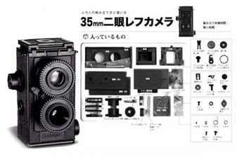 This Japanese camera is AMAZING because it looks neat and YOU GET TO PUT IT TOGETHER!!! Want!!