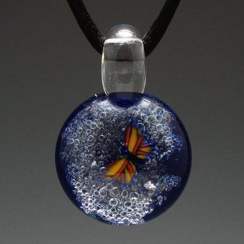 Butterfly Galaxy Cremation Jewelry $87