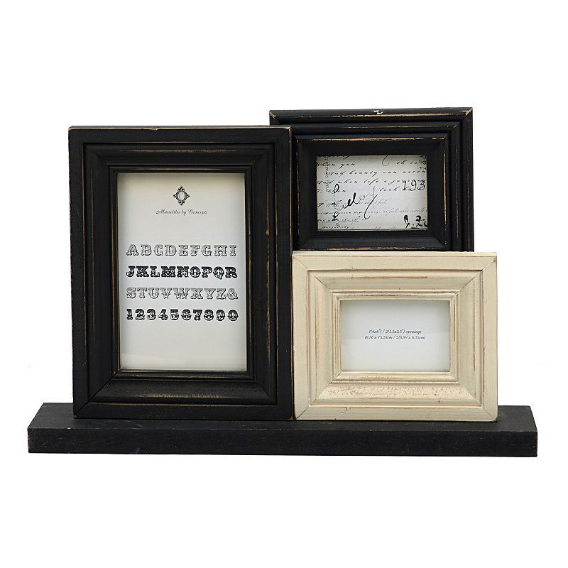 Concepts in Time 3-Opening Collage Frame, White | Collage and Products