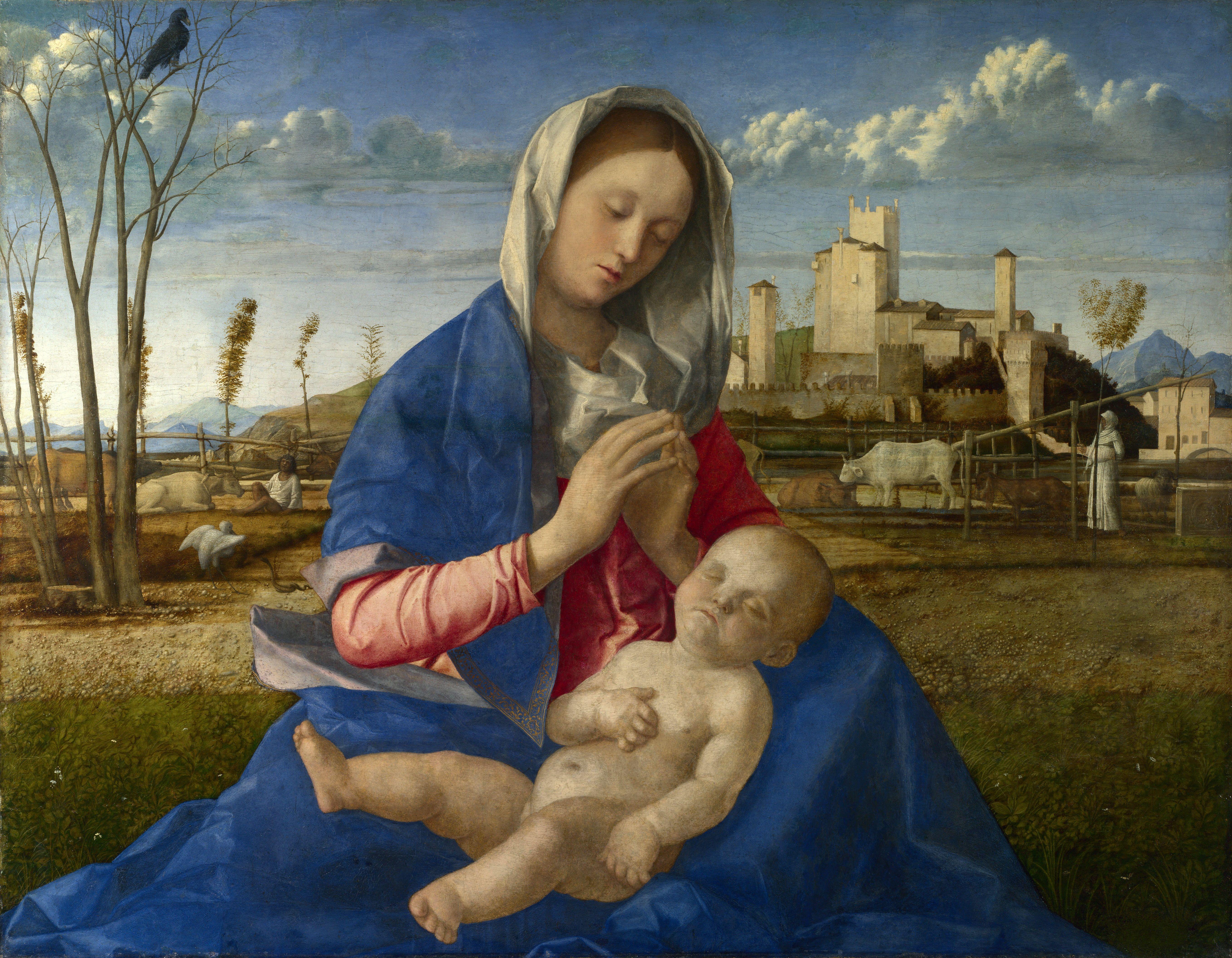Giovanni Bellini - La Madonna Del Prato Paintings With Capital