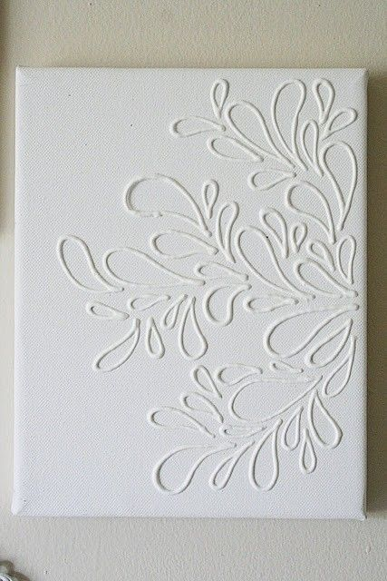 Elmers glue on canvas then paint my sister in law did this for elmers glue on canvas then paint the whole thing one color do it yourself home ideas diy crafts ideas projects solutioingenieria Choice Image