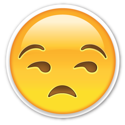 Unamused Face | EmojiStickers.com